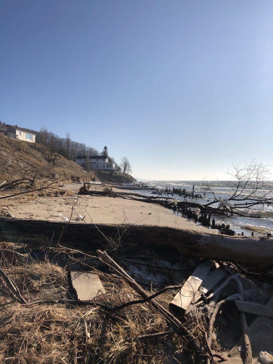 Ottawa county michigan Lake Michigan beaches and the erosion
