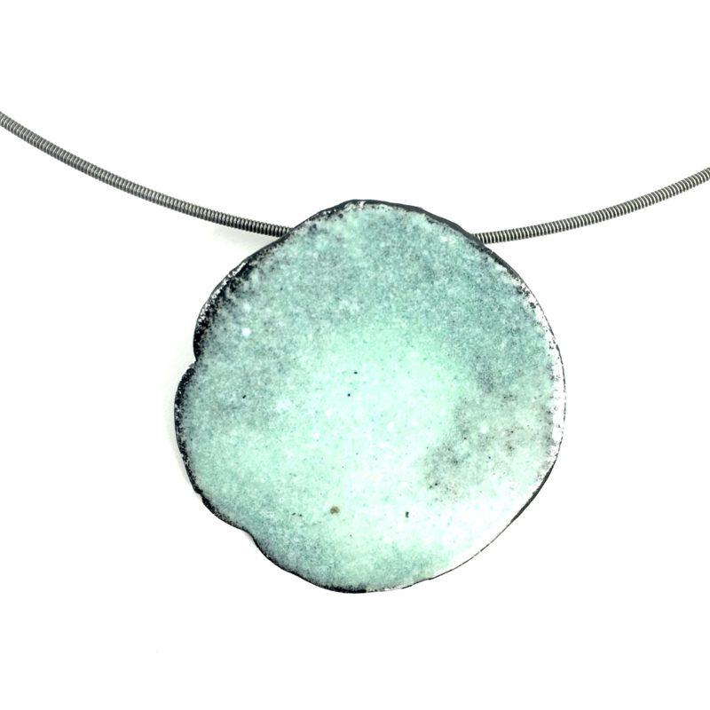 enameled steel pendant