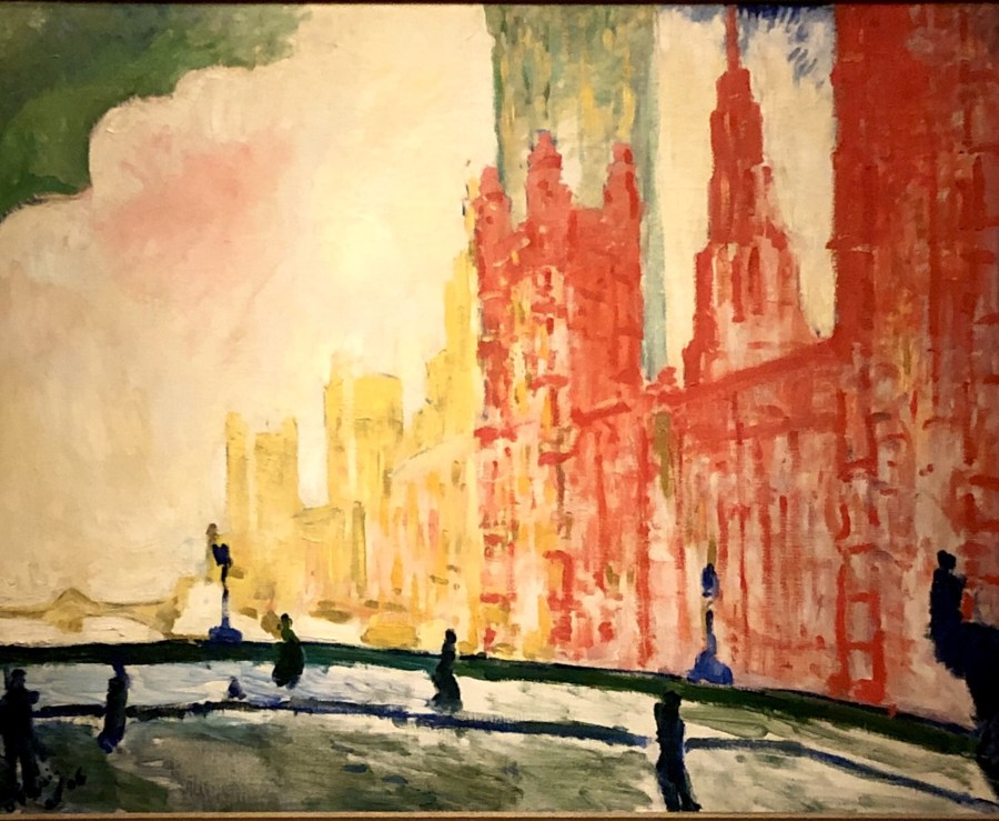 The Houses of Parliment from Westminister by Andre Derain, mature fauvres