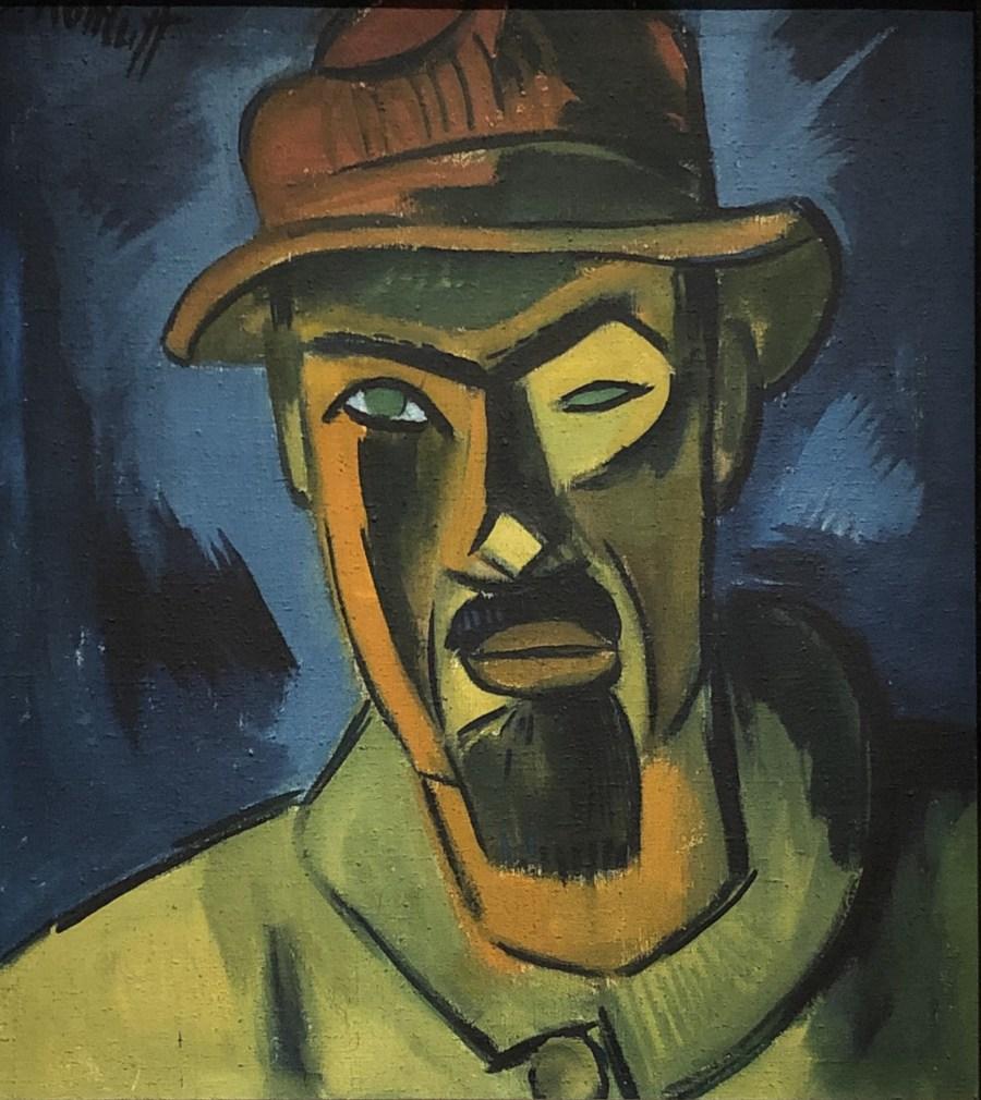 Karl Schmidt Rottluff self portrait cubism