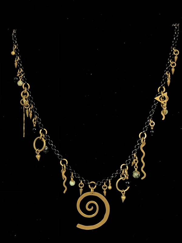 Closeup to Charm Necklace by Lochlin Smith