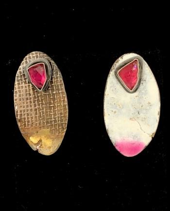 handmade reversible and interchangeable earrings