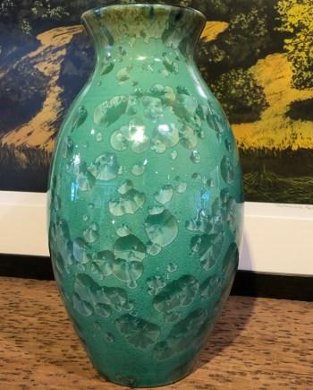 Green Crystalline Vase by Brooks Bouwkamp