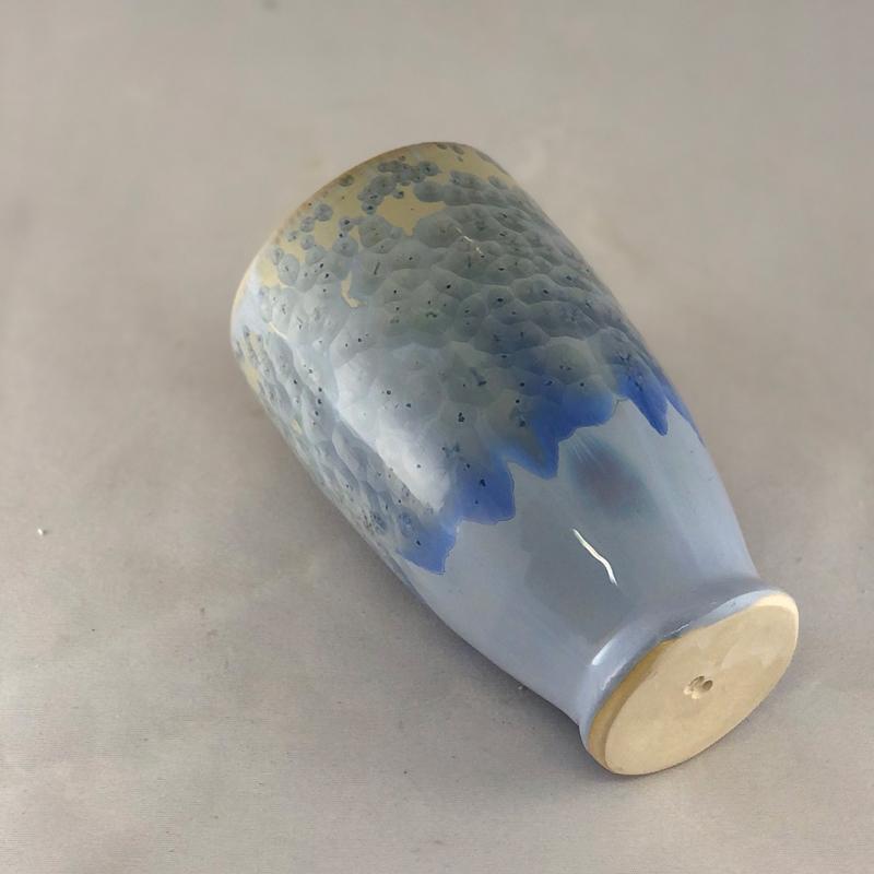 bottom of light cobalt crystalline tumbler by Brooks Bouwkamp