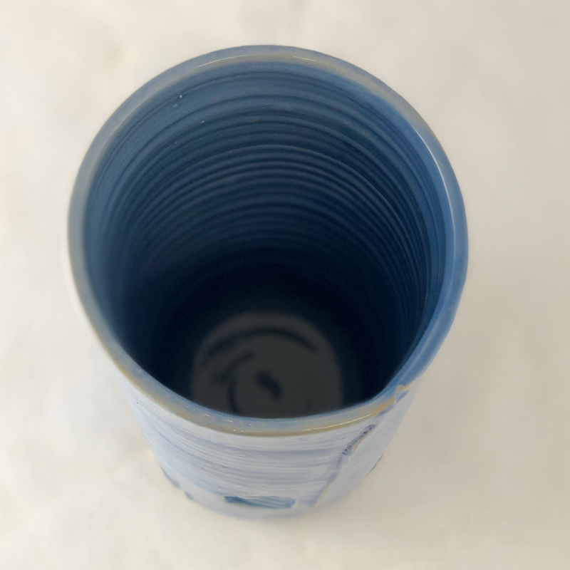 Inside View of Blue Vase
