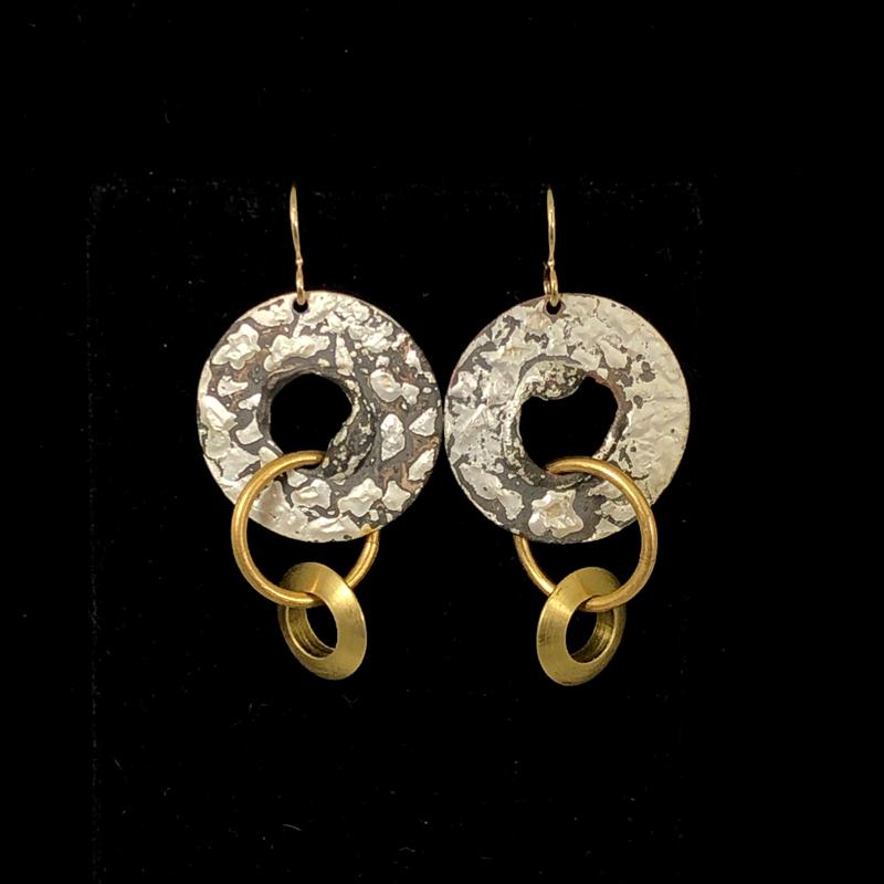 Triple Hoops Gold & Silver by Lochlin Smith