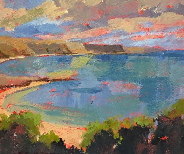 original acrylic painting of the irish coast