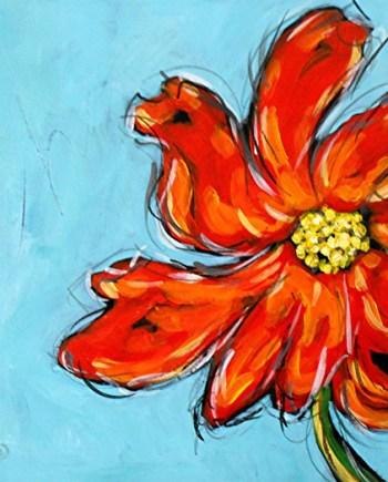 original contemporary flower painting