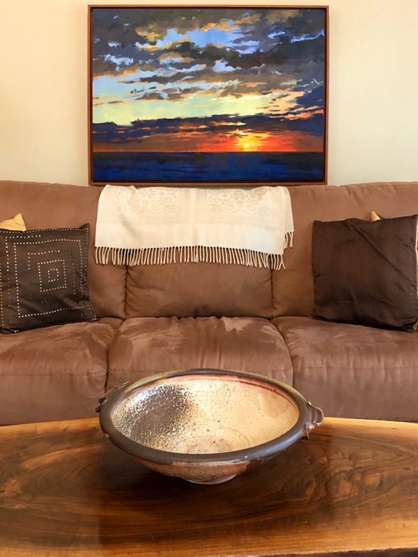 Sunset from the Beach by Mark Mehaffey - Living Room