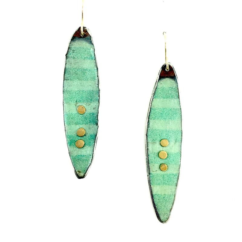 Gold Dot Earrings by Julie Billups