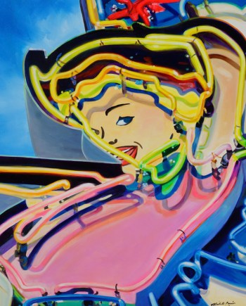 painting of a neon sign