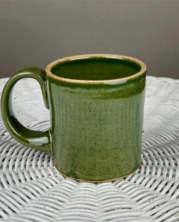 green handmade ceramic mug by schyler binkley