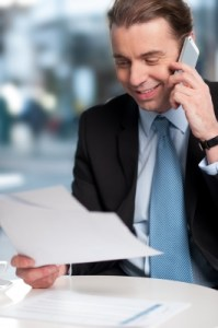 Business man on phone, Follow Up, C2C Resources