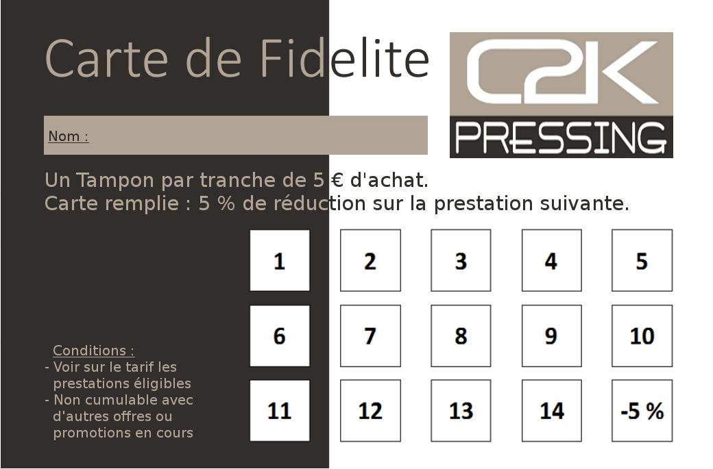 Nouveau Programme De Fidlit C2K Pressing
