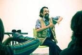 Late Slamet Abdul Sjukur, giving acoustic workshop for our children festival, Eat Play Laugh, 2011