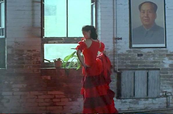 Zhong Ping menari flamenco
