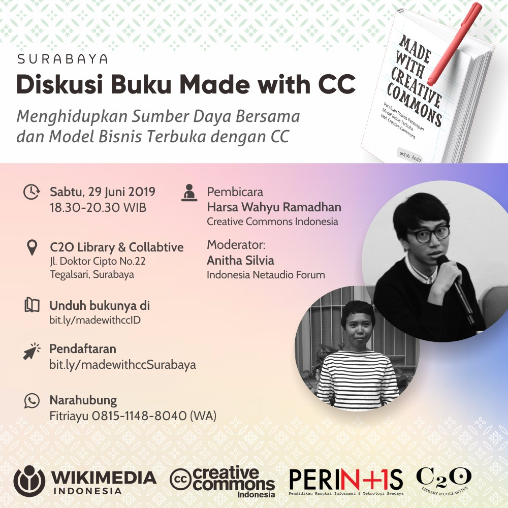 Diskusi buku Made with Creative Commons