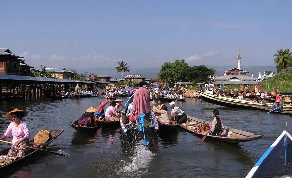 Lago Inle Mercado de Myanmar Birmania 146