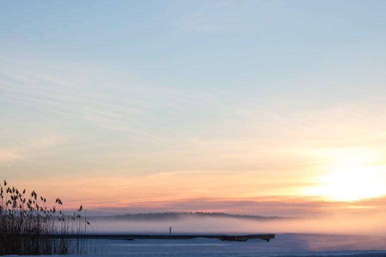 Winter of Sweden - Kvicksund sunset - reaktionista.se