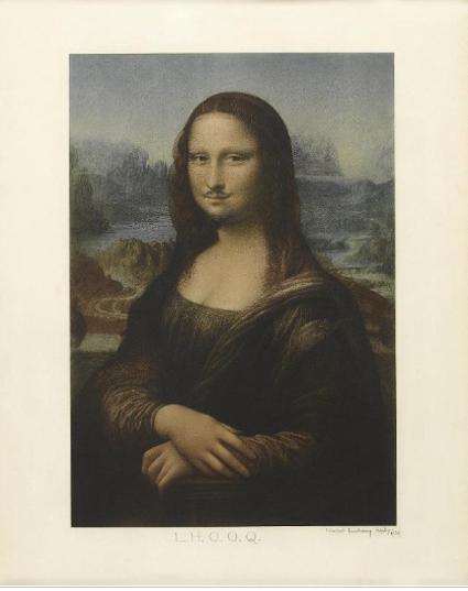 17a05 Duchamp, LHOOQ, 1919