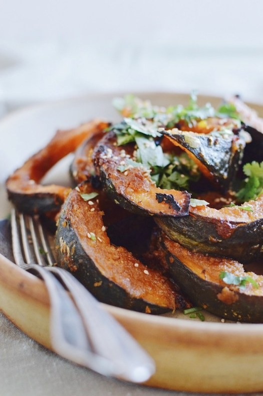 miso kabocha with cilantro and lime