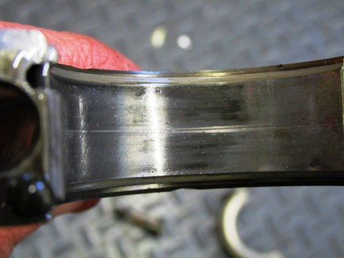 Score in Right Rod Bearing Shell