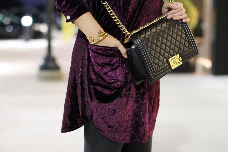 velvet-dress-chanel-boy-bag-5