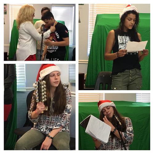 Teens in rehab Christmas talent show