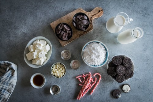 yes, there are three kinds of chocolate, four if you count the cookies.