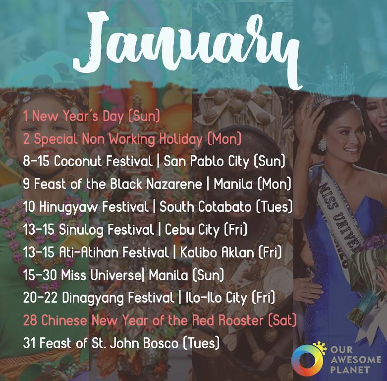 2017 Festivals & Holidays