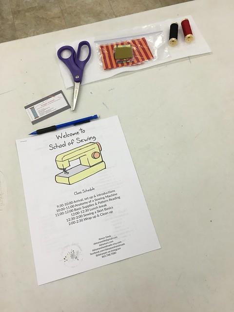 School of Sewing 2016 Spring