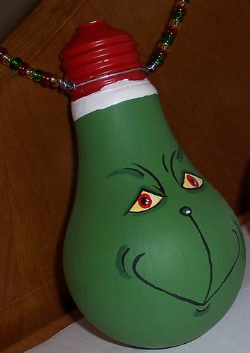 GRINCH Bulb Grinch Decoration Made From A Burnt Out