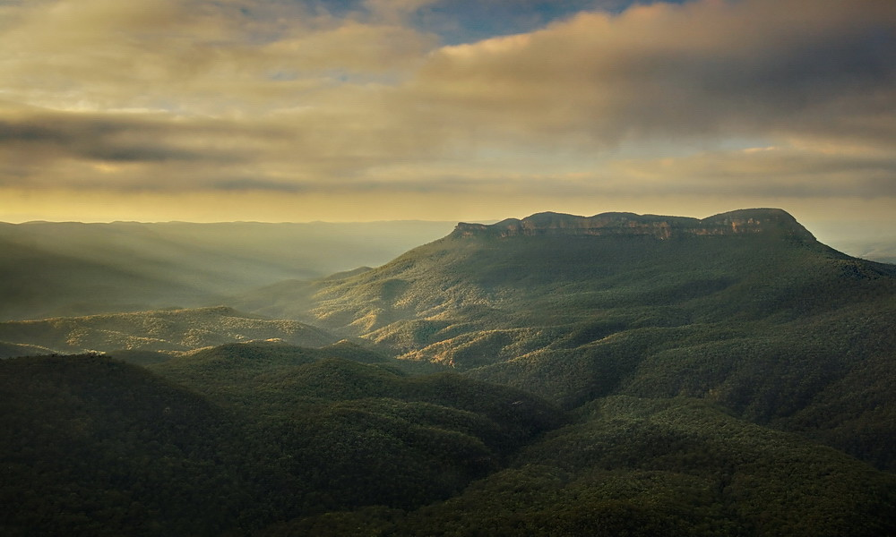 National Parks in Australia: Blue Mountain Rays