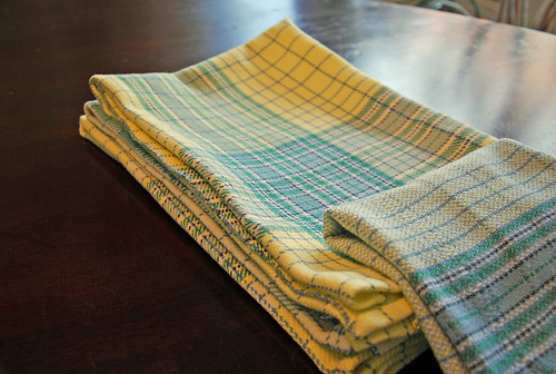 Handwoven cotton asymmetrical twill towels