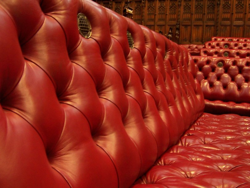 Benches in the House of Lords Chamber