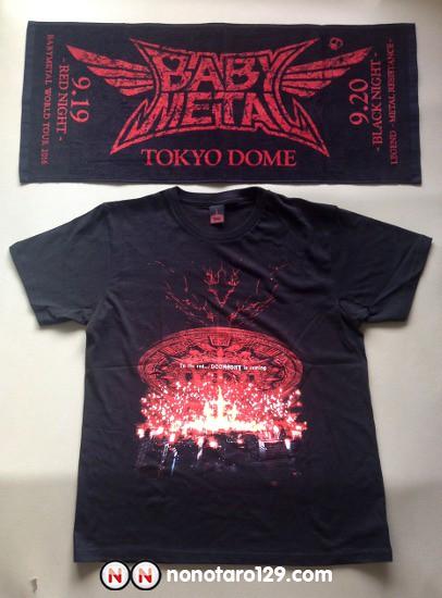 babymetal tokyo dome towel and t shirt 00