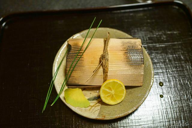 Barracuda grilled in cedar, sudachi lime
