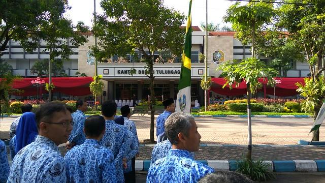 Suasana Upacara 10 November di Kantor Bupati Tulungagung (10/11)