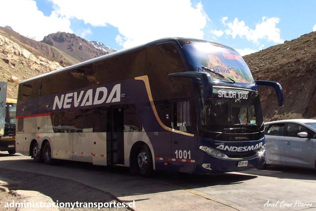Nevada Internacional | Paso Los Libertadores | Comil Campione DD - Volvo / GZSX82 - N° 1001