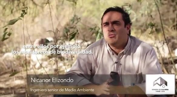Nicanor Elizondo. Ingeniero Senior de Medio Ambiente. Minera Alumbrera.