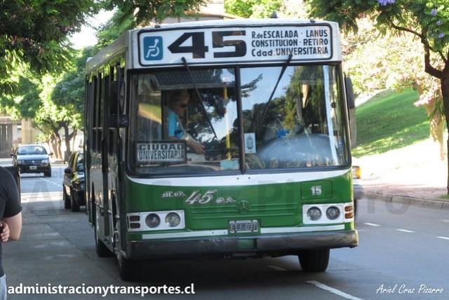 Buenos Aires 45 | Micro Ómnibus 45 | La Favorita - Mercedes Benz / EIJ037