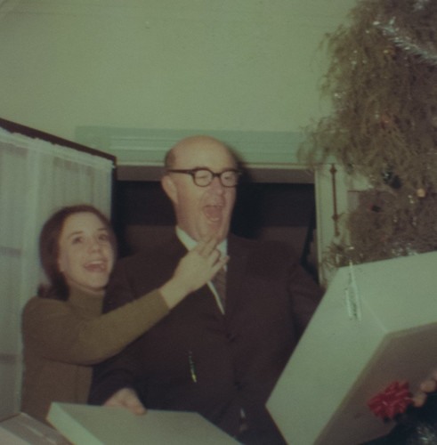 Susan and Dad Christmas 1968