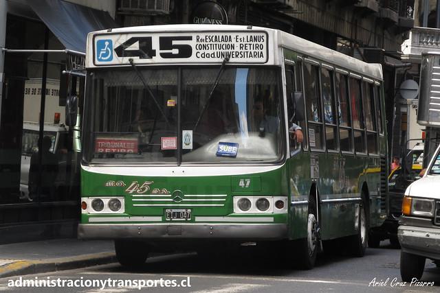 Buenos Aires 45 | Micro Ómnibus 45 | La Favorita - Mercedes Benz / EIJ047
