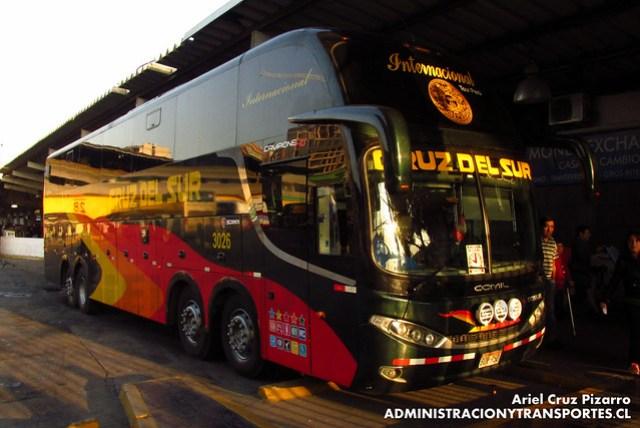 Cruz del Sur (Perú) - Santiago - Comil Campione 4.05 HD / Scania (B0Y950)