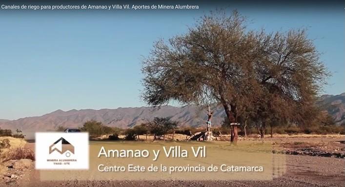 Canales de riego para productores de Amanao y Villa Vil