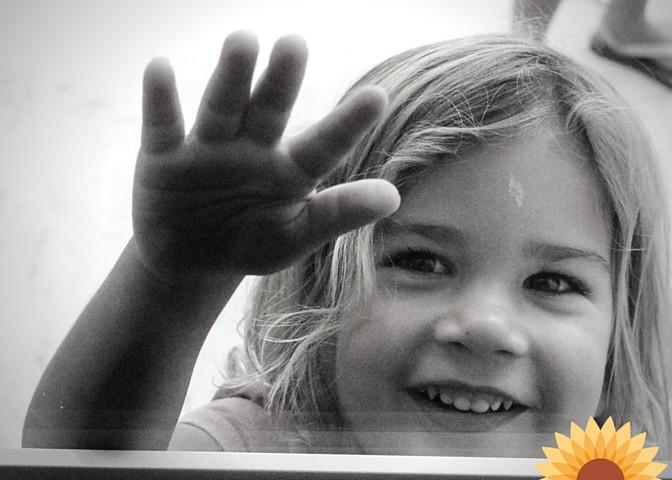 Little one through a window
