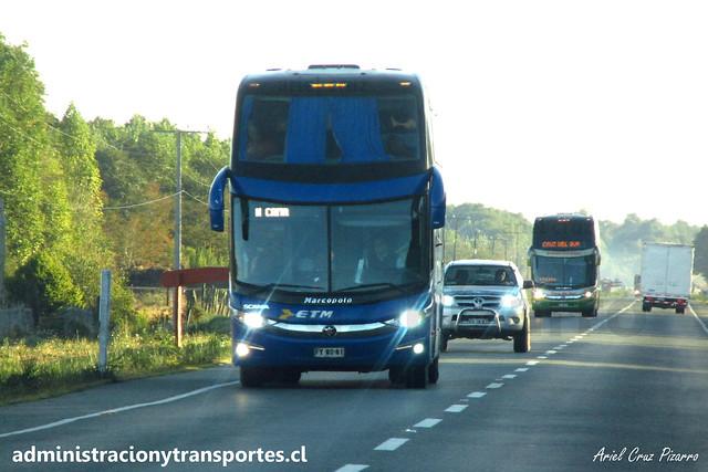 Buses ETM (Cama Premium) | Chiloé | Marcopolo Paradiso 1800 DD G7 - Scania / FYWS81