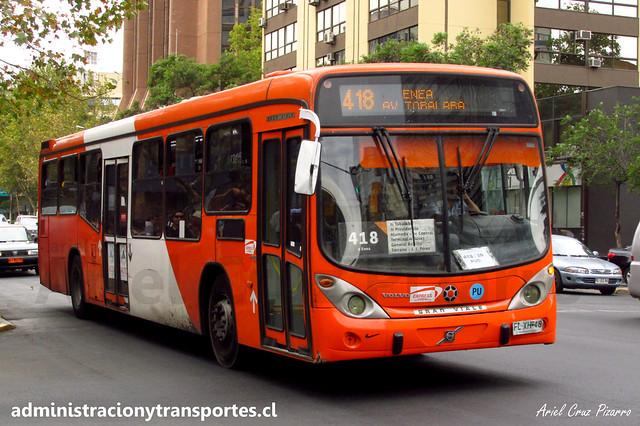 Transantiago - 418   Express   Marcopolo Gran Viale - Volvo (Bus Biportal) / FLXH48