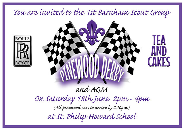Pinewood Derby & AGM 18 June 2016