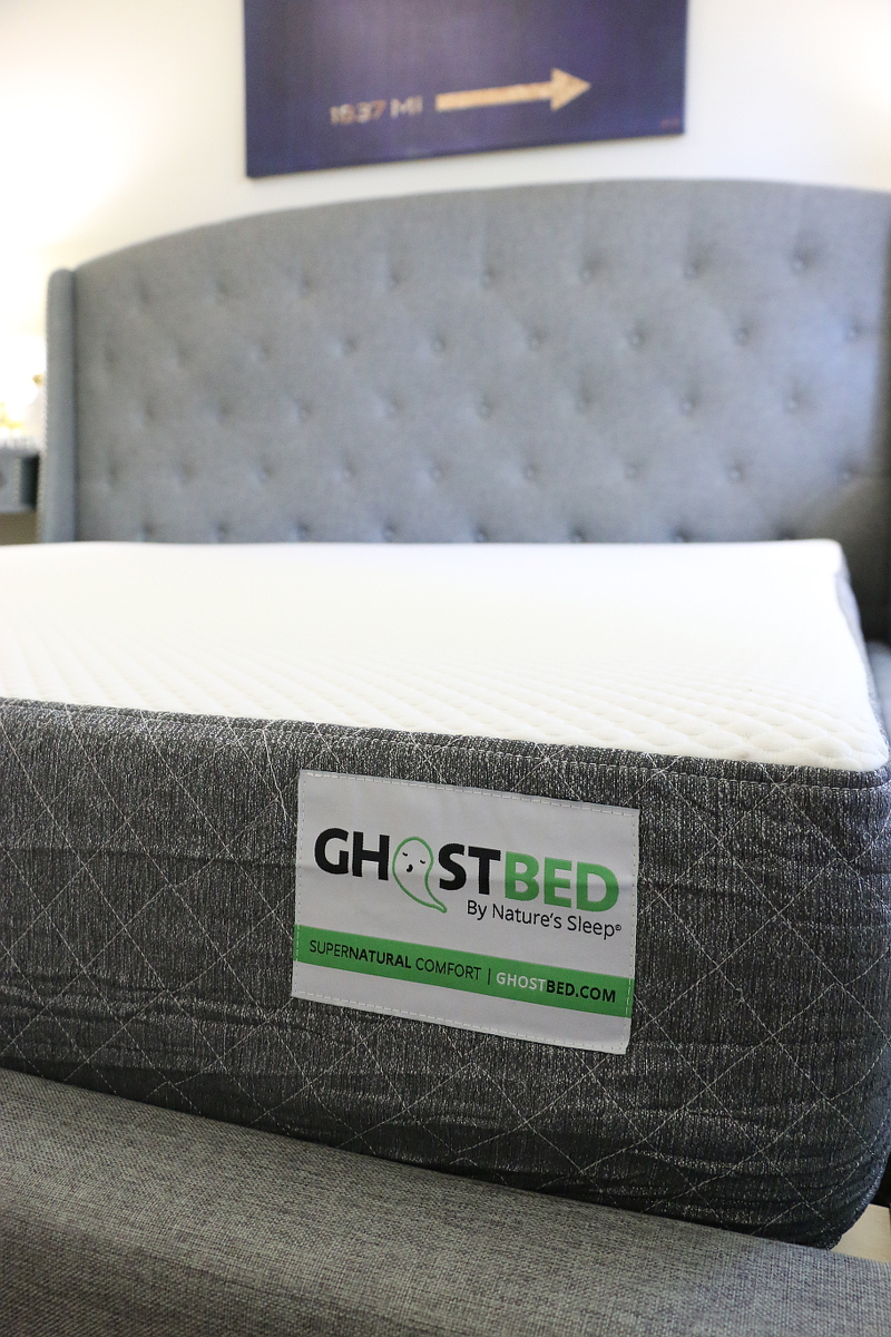 GhostBed mattress, bed